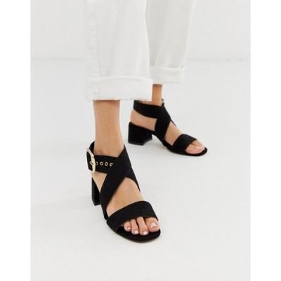 エイソス レディース サンダル シューズ ASOS DESIGN Hip Hop block heeled sandals in black