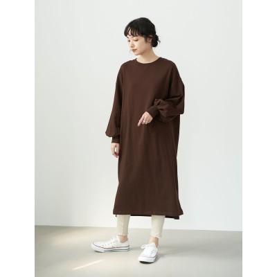 オーガニックコットンすきな丈ふわ袖BIGT(ワンピース)