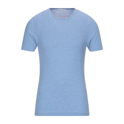グラン サッソ GRAN SASSO T シャツ アジュールブルー 50 コットン 100% T シャツ