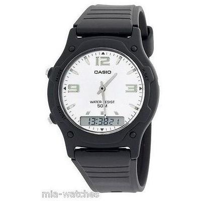 カシオ 腕時計   Casio AW49HE-7A メンズ クラシック デジタル アナログ カジュアル 腕時計 50M デュアルタイム アラーム