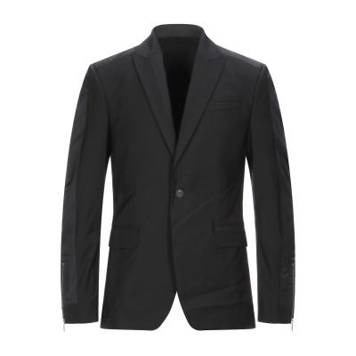 LES HOMMES テーラードジャケット ブラック 46 ポリエステル 54% / バージンウール 44% / ポリウレタン 2% / ナイロン