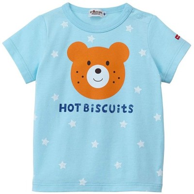 ミキハウス ホットビスケッツ (MIKIHOUSE HOT BISCUITS) Tシャツ 72-5210-458 90cm ブルー