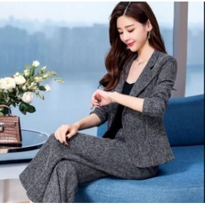 お宮参り スーツ パンツスーツ セレモニー スーツジャケット ビジネス 面接 フォーマル 大きいサイズ セットアップ 上下セット オフィス