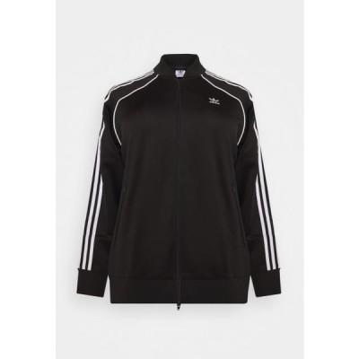 アディダス レディース ファッション TRACKTOP - Training jacket - black/white