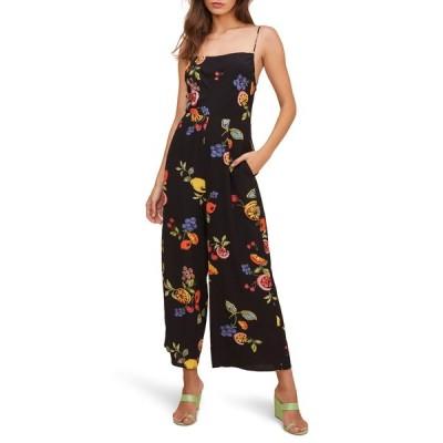 アストール ワンピース トップス レディース Frenzy Floral Wide Leg Jumpsuit Black Mixed Fruit Floral