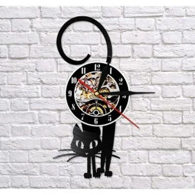 アナログ時計 壁掛け時計  インテリア雑貨   猫 リビング 寝室 雑貨 子供部屋