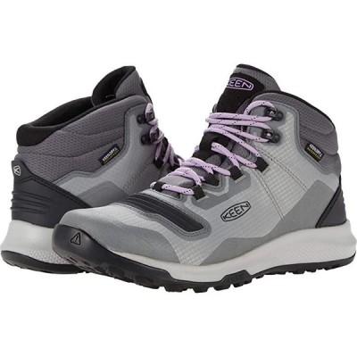 キーン Tempo Flex Mid WP レディース Hiking Steel Grey/African Violet