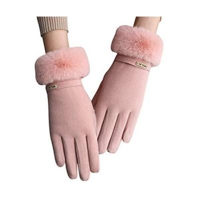 レディース 手袋 Caseeto グローブ 女性用 秋冬手袋 裏地超長起毛 厚手 ふわふわ 防風防寒 タッチバネル対応 軽