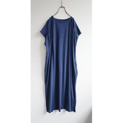 インディゴ染 ギャザーワンピース (ワンピース)Dress