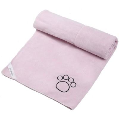 DELLEPICO マイクロファイバー 大判サイズ60cmx115cm 超吸水 速乾 ペット用 タオル ピンク