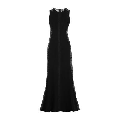 SAFIYAA ロングワンピース&ドレス ブラック 38 アセテート 50% / レーヨン 47% / ポリウレタン® 3% ロングワンピース&ドレス
