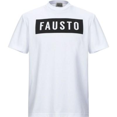 ファウスト パグリッシ FAUSTO PUGLISI メンズ Tシャツ トップス t-shirt White