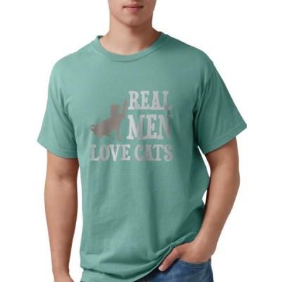 メンズ 衣類 トップス CafePress - Real Men Love Cats T Shirt - Mens Comfort Colors- Shirt グラフィックティー