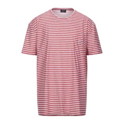 ポール・アンド・シャーク PAUL & SHARK T シャツ レッド 4XL コットン 100% T シャツ