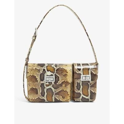バイ ファー BY FAR レディース ショルダーバッグ バッグ Billy snakeskin-print patent leather shoulder bag SNAKE PRINT