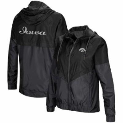 Colosseum コロセウム スポーツ用品  Colosseum Iowa Hawkeyes Womens Black First Class Full-Zip Windbreaker Jacket