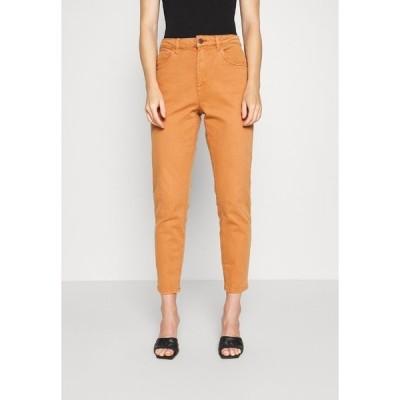 エスプリ デニムパンツ レディース ボトムス MODERN TAPE - Straight leg jeans - rust brown
