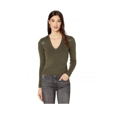 BCBGMAXAZRIA ビーシービージーマックスアズリア レディース 女性用 ファッション セーター V-Neck Pullover - Military Green