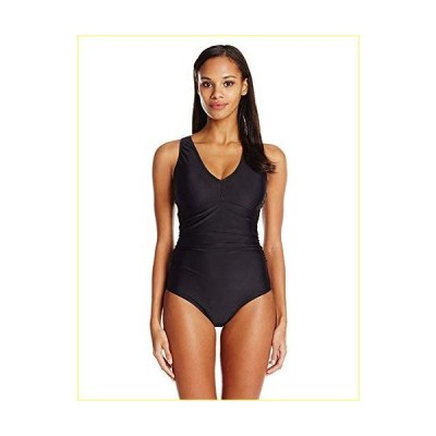 Speedo Women's Swimsuit One Piece PowerFlex V-Neck Solid - Manufacturer Discontinued【並行輸入品】