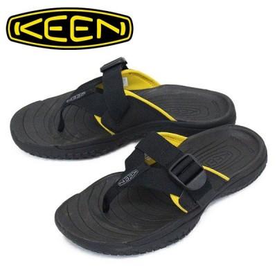 KEEN (キーン) 1022504 Men's SOLR TOE POST ソーラー トゥ ポスト サンダル BLACK/GOLD KN474