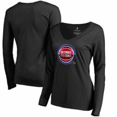 Fanatics Branded ファナティクス ブランド スポーツ用品  Fanatics Branded Detroit Pistons Womens Black Midnight Mascot Long Sleeve
