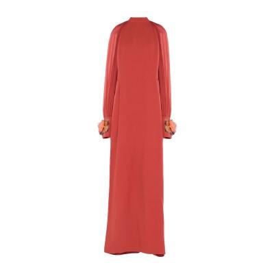 IVAN MONTESI ロングワンピース&ドレス 赤茶色 40 アセテート 50% / レーヨン 50% ロングワンピース&ドレス