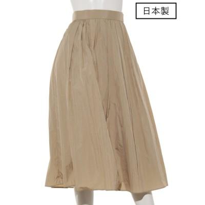 dolly-sean (ドリーシーン) レディース 【日本製】ナイロンタックギャザースカート ベージュ S