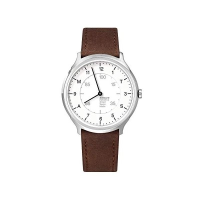 Mondaine Helvetica SmartWatch, Modern Brown Leather Smart Watch for Men and Women, MH1.R2S10.LG, 40 MM 並行輸入品