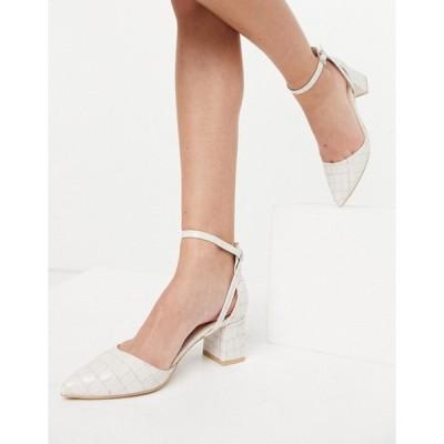 レイド レディース ヒール シューズ RAID Hazy mid heeled shoes in bone croc
