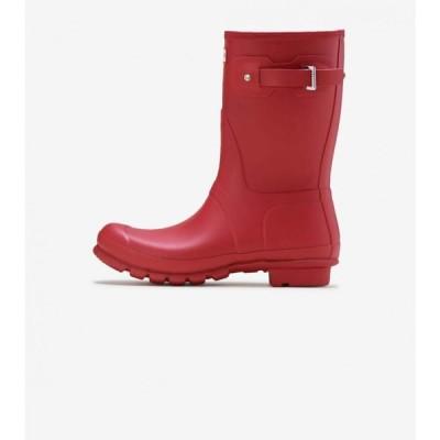 ハンター Hunter レディース ブーツ シューズ・靴 original short boot MILITARY RED