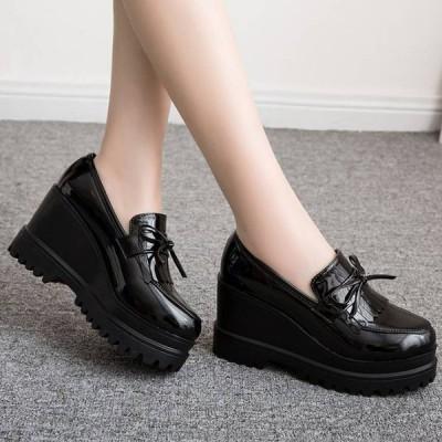 ローファー シューズ レザー エナメル 厚底  靴 レディースシューズ レディース 女性サイズ きれいめファッション ファッション 歩きやすい 疲れにくい おしゃ…