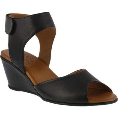 スプリングステップ Spring Step レディース サンダル・ミュール ウェッジソール シューズ・靴 Marjory Wedge Sandal Black Leather