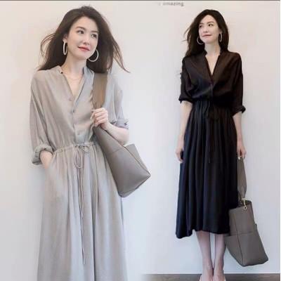 軽くて熟している風のワンピースの気質の2020夏の新型の女装の赫本の小さい衆のキキョウのフランス式の復古のシャツのスカート