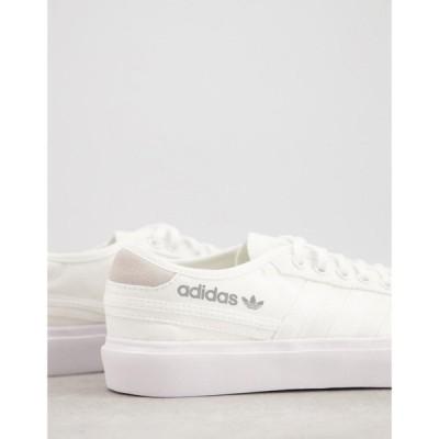 アディダス adidas Originals メンズ スニーカー シューズ・靴 Delpala trainers in white ホワイト