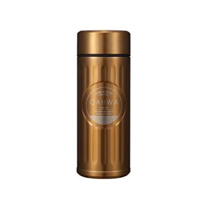 シービージャパン 水筒 ゴールド 420ml 直飲み ステンレス ボトル 真空 断熱 カフア コーヒー ボトル QAHWA
