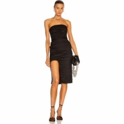 ゼイネプアルケイ Zeynep Arcay レディース ワンピース ミドル丈 ワンピース・ドレス Strapless Ruched Midi Dress Black