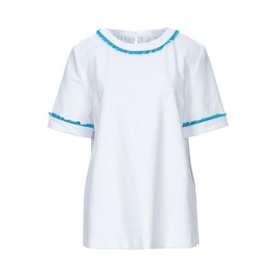 SATÌNE スウェットシャツ ホワイト M コットン 100% スウェットシャツ