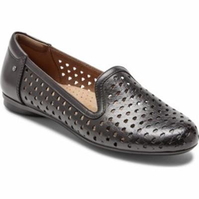 ロックポート ROCKPORT COBB HILL レディース スリッポン・フラット シューズ・靴 Maiika Woven Flat Black Leather