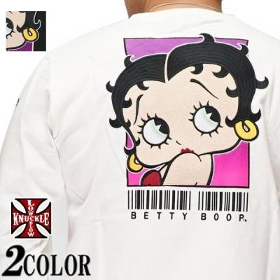 ローブローナックル LOW BLOW KNUCKLE ベティブープ コラボ Tシャツ 半袖 メンズ バーコード 530867