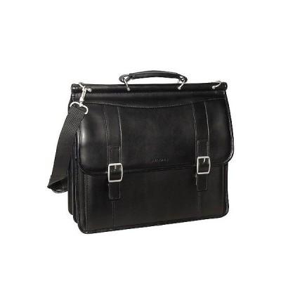 リュック バッグ ブリーフケース サムソナイト Samsonite Leather Dowel Flapover Business Case Black 53228-1041