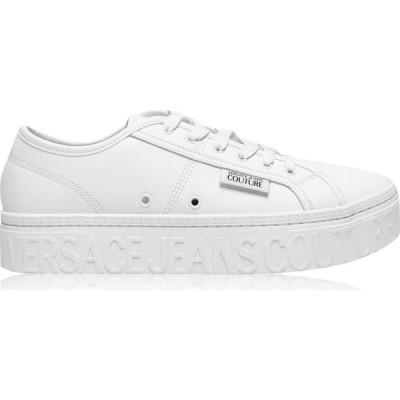 ヴェルサーチ VERSACE JEANS COUTURE メンズ スニーカー シューズ・靴 Logo Platform Sole White