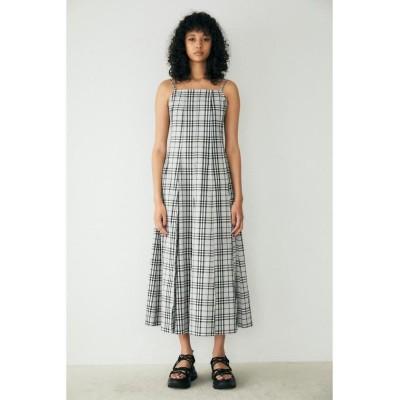 【マウジー】 PLEATS CAMI LONG ドレス レディース 柄BLK5 2 MOUSSY