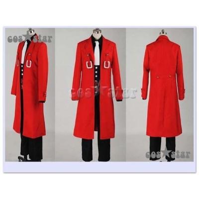 コススター BLAZBLUE ブレイブルー ハザマ風(赤色) コスプレ衣装  【男女XS〜XXXLサイズ 完全オーダメイドも対応可能】
