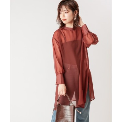 natural couture / 【WEB限定】プチハイロングチュニック WOMEN トップス > シャツ/ブラウス