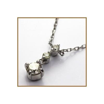 ネックレス レディース プラチナ PT900/PT850 ダイヤモンド D0.20 かわいい おしゃれ 中古 necklace 価格見直し