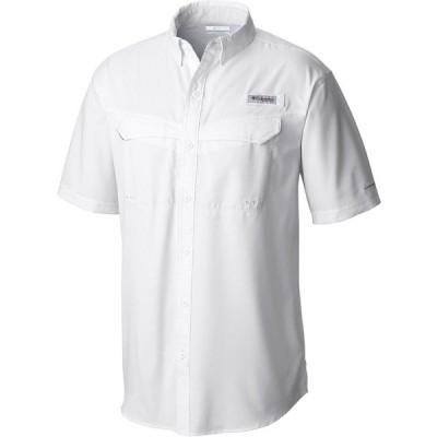 コロンビア シャツ トップス メンズ Columbia Men's PFG Low Drag Offshore Short Sleeve Shirt White