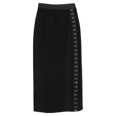 TENAX ひざ丈スカート  レディースファッション  ボトムス  スカート  ロング、マキシ丈スカート ブラック