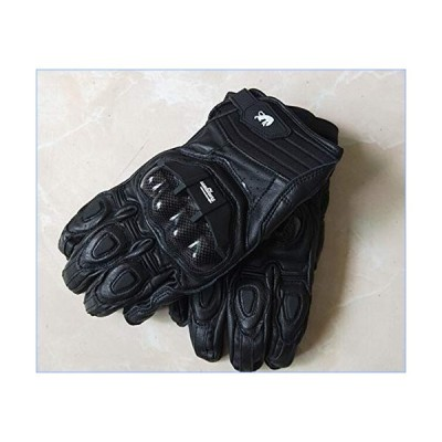 Outdoor Sports Gloves Shockproof Gloves Leather Gloves Men's Motorcycle Gloves (Color : Blue, Size : L)並行輸入品