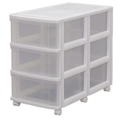 収納ボックス 衣装ケース 押入れ収納 キャスター付き プラスチック チェスト 3段 幅39.4cm AO-723 クリア 収納ケース 衣替 アイリスオーヤマ