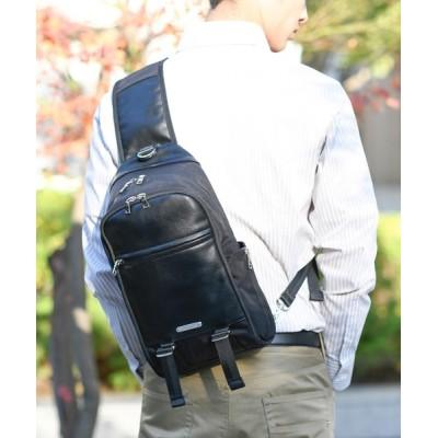 THE SHOP TK / 【父の日】【ギフト】多機能ワイドボディーバッグ/ワンショルダー(脱着可能スマホケース付き) MEN バッグ > ショルダーバッグ